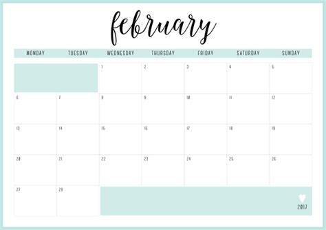Free Printable Irma 2017 Monthly Calendars & Planners