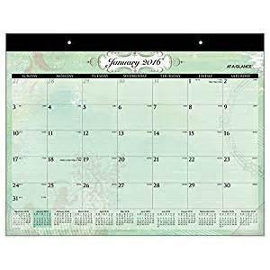 amazon com at a glance desk pad calendar 2016 poetica