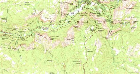 map  yosemite valley country map