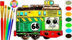 Thomas And Friends Coloring Page  U2666 How To Draw Diesel Philip  U2666 Learn Colors Video For Kids
