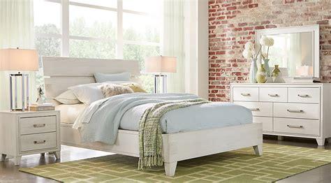 crestwood creek  white  pc queen panel bedroom queen
