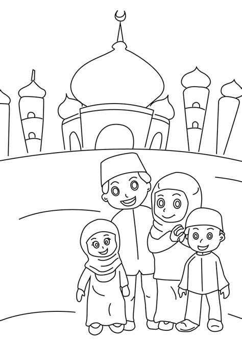 Coloring Mosque by Ramadan Colouring Pages In The Playroom