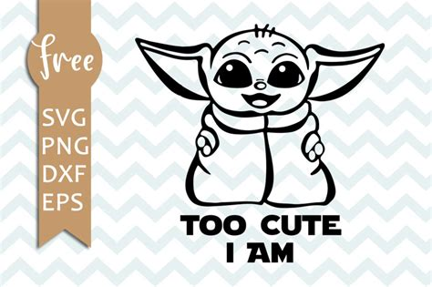 Download baby yoda svg free cricut available in all formats: Baby yoda svg free, too cute i am svg, star wars svg ...