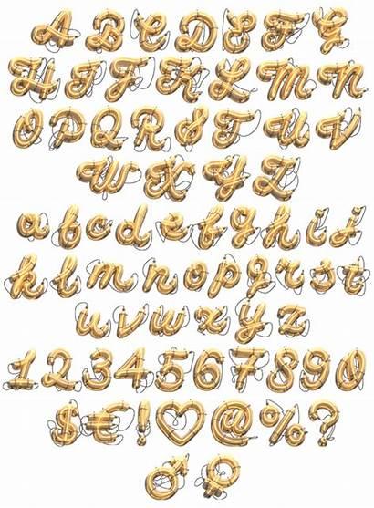 Font Sign Golden Neon Signs Alphabet Fonts
