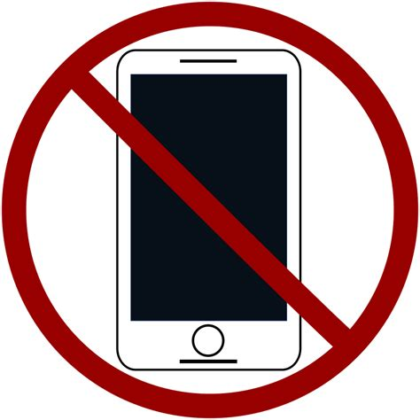 No Clipart Clipart No Cell Phones Free Clipart No
