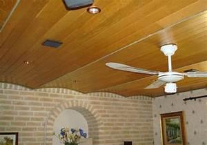Pose De Lambris Bois : lambris plafond bois ~ Premium-room.com Idées de Décoration
