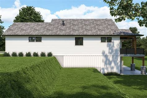 affordable sloping lot craftsman style house plan