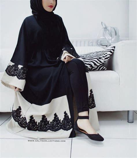 of naima noir lace abaya pre order muslimah fashion