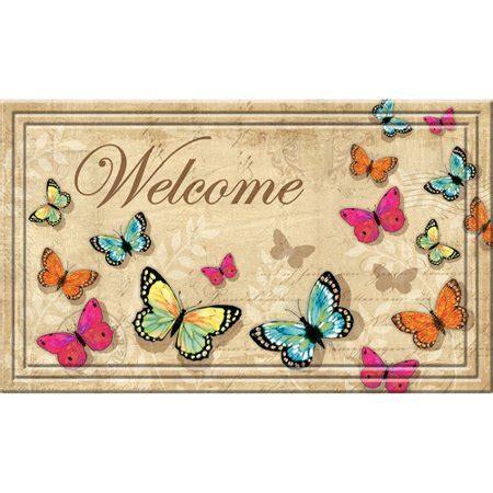 butterfly doormat better homes gardens 18 quot x 30 quot naturelle butterfly