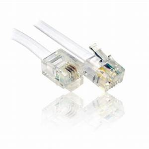 10m Adsl Rj11 Cable  Lead  Wire For Use With Bt  Broadband