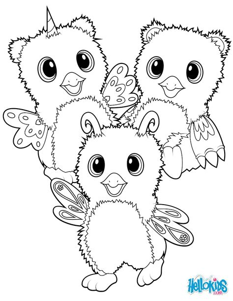 hatchimals burtle owlicorn  bearakeet coloring pages