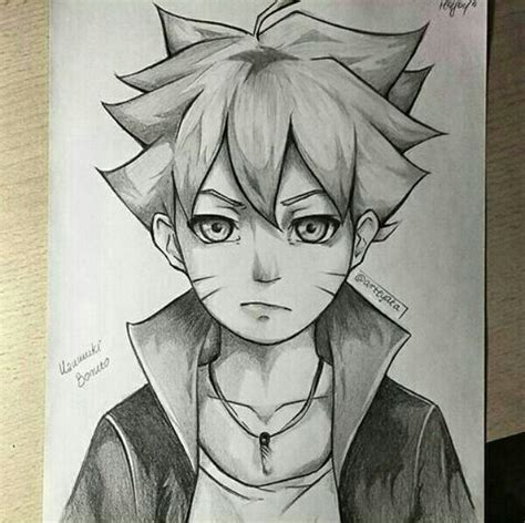 Best Anime Drawings Pencil Drawing Best Boruto Pencil Shading Anime And Stuff