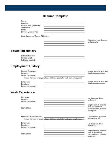 free printable resume builder whitneyport daily