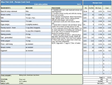 cake pricing excel spreadsheet  menu recipe cost
