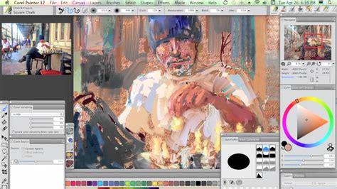 portrait collage workspace  corel painter