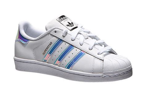 Adidas Superstar Junior White Hologram Girls Womens Shoes