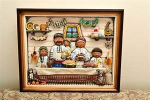 Decoration Murale Tableau : madeheart tableau d coration murale fait main en bois et argile famille id e d co maison ~ Teatrodelosmanantiales.com Idées de Décoration