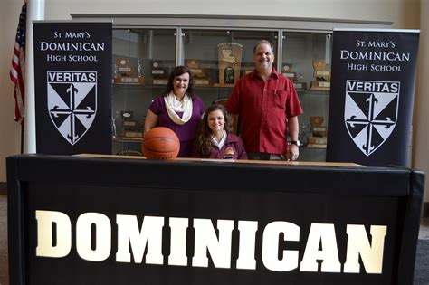 athletic signing basketball st marys dominican high school