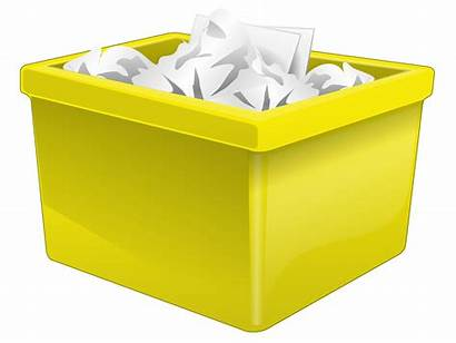 Box Clipart Paper Plastic Yellow Filled Vector