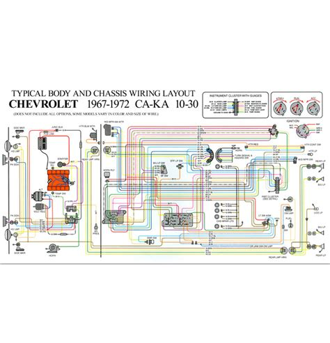 72 Chevelle Alternator Wiring Diagram by Color Wiring Diagram Std Classic Chevy Truck Parts
