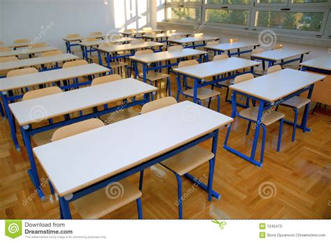 classroom seats and tables 2 stock image image 1245473
