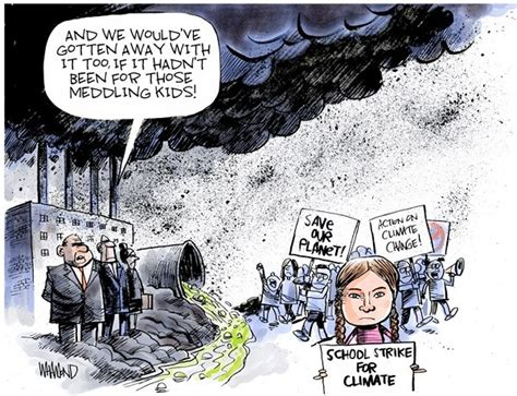 cartoons greta thunbergs group rejects  climate award
