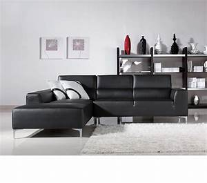 dreamfurniturecom black l shape sectional sofa With l shaped sectional sofa in black leatherette