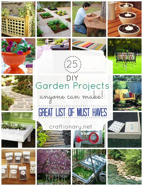 Easy Diy Garden Projects craftionary