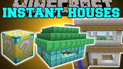 minecraft instant house mod custom houses tree house