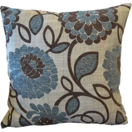 Throw Pillows For Walmart by Better Homes And Gardens Blue Floral Decorative Pillow