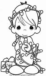 Coloring Angel Xmas Printable Angels Disney Colouring Moments Precious Children Lights Characters sketch template