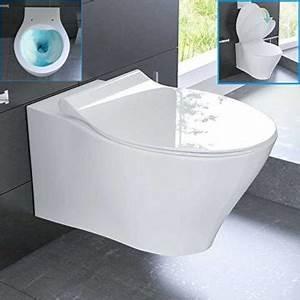 Hänge Wc Randlos : sp lrandloses h nge wc keramik toilette ohne sp lrand inkl duroplast wc sitz mit soft close ~ A.2002-acura-tl-radio.info Haus und Dekorationen