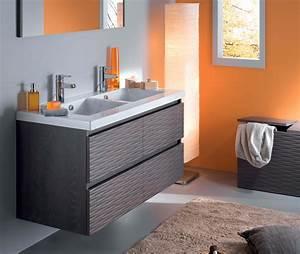 Salle De Bain Orange : salle de bain orange et gris ~ Preciouscoupons.com Idées de Décoration