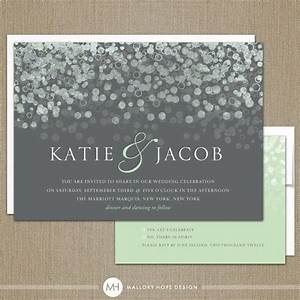 Champagne bubbles modern wedding invitation by for Digital wedding invitations with rsvp