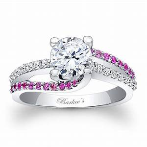 barkev39s engagement ring with pink sapphires 7677lps With wedding ring pink