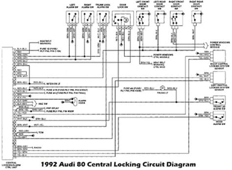 audi  lock  alarm control unit wiring diagram