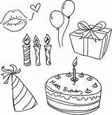 Birthday Celebration Sketch Vector Clip Istock Illustrations Illustration Pastry Graphics Vectors sketch template
