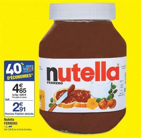 nutella pas cher pot d un kg pour 2 91