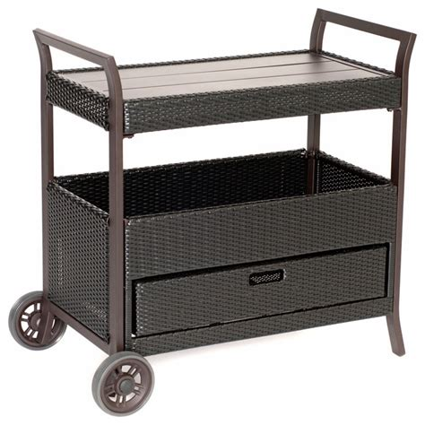 outdoor bar cart transitional outdoor serving carts