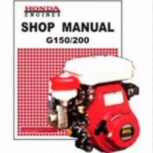 Honda G150 And G200 Engine Shop Manual
