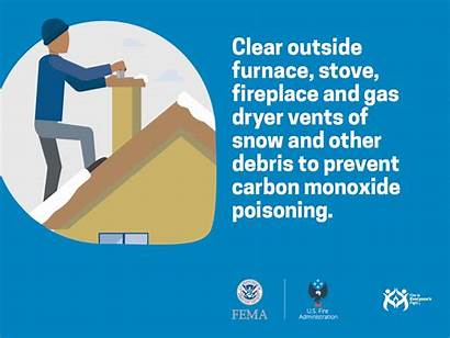 Safety Clear Outside Vents Monoxide Carbon Poisoning