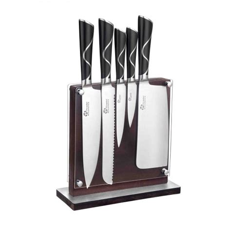 bloc couteaux de cuisine bloc en bois de 5 couteaux de cuisine luxe