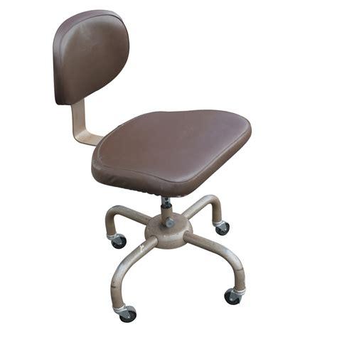 vintage metal industrial chair brown ebay