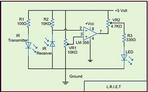 Ir Sensor Circuit And Working With Applications