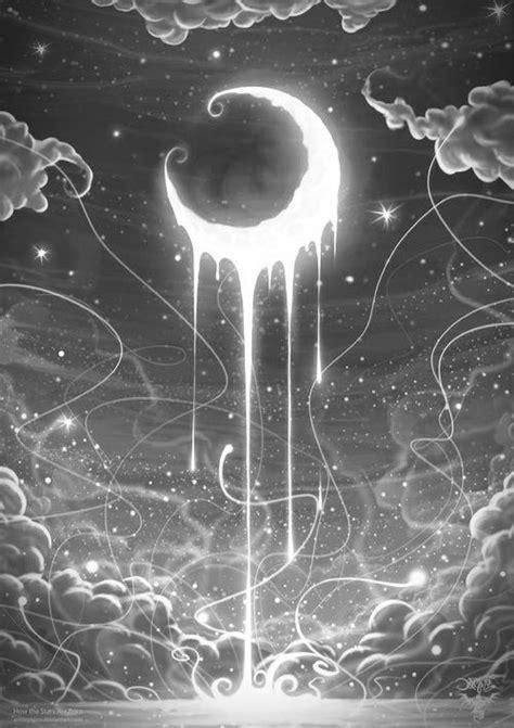 dripping moon   Moon art, Moon, Art