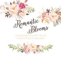 diy bridal bouquet blooms watercolour clip от graphicsafari на etsy