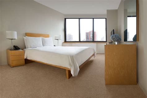 The doubletree guest suites times square has a few 2 bedroom, 2 bathroom suites, but this will probably cost more than 2 separate rooms in another hotel. 1 Bedroom - The Marmara ManhattanThe Marmara Manhattan