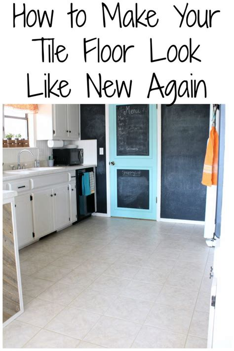 how to make your tile floor look like new again frazzled