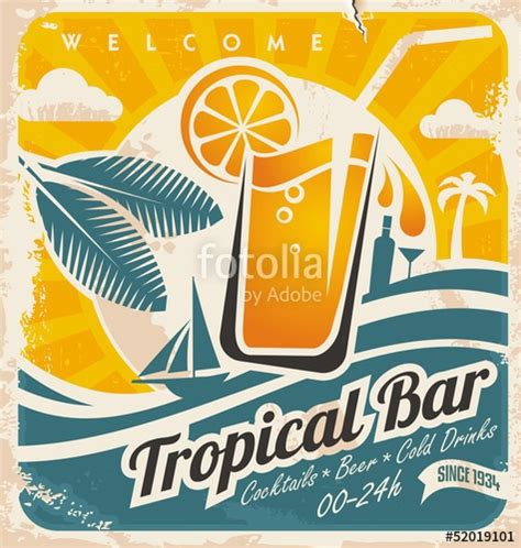 tropical poster template quot retro poster template for tropical bar quot stockfotos und