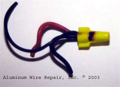 examples  burnt wire nuts aluminum wire repair